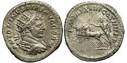 1 Antoninianus 羅馬帝國 銀 Caracalla (188-217)
