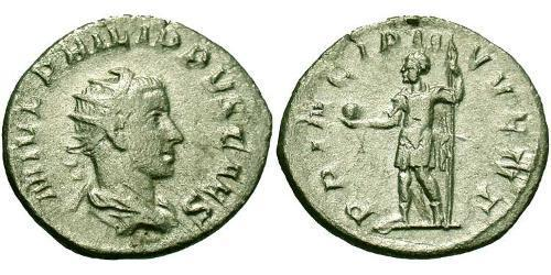 1 Antoninianus 羅馬帝國 銀 Philip II (237-249)