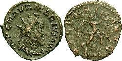 1 Antoninianus Gallic Empire (260-274) Billon Marcus Aurelius Marius (?-269)