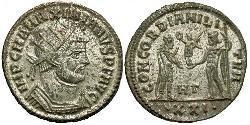 1 Antoninianus Roman Empire (27BC-395) Bronze Maximianus (250-310)