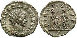 1 Antoninianus Roman Empire (27BC-395) Copper/Silver Aurelian (215-275)