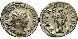 1 Antoninianus Roman Empire (27BC-395) Silver Philip the Arab (204-249)
