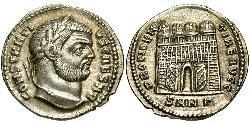 1 Argenteus Römische Kaiserzeit (27BC-395) Silber Konstantin I (272 - 337)