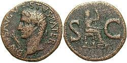 1 As Roman Empire (27BC-395) Bronze Augustus (63BC- 14)