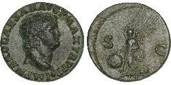 1 As Roman Empire (27BC-395) Bronze Nero  (37- 68)