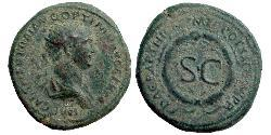 1 As Roman Empire (27BC-395) Orichalcum Trajan (53-117)