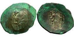 1 Aspron trachy Imperio bizantino (330-1453) Vellón Plata Isaac II Ángelo (1156-1204)