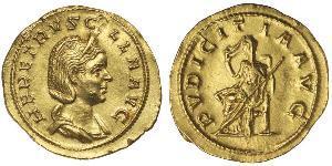 1 Aureus 羅馬帝國 金 Herennia Etruscilla (249-251)