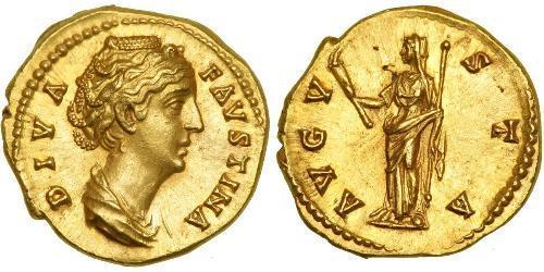 1 Aureus 羅馬帝國 金 Faustina II (130-175)