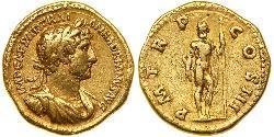 1 Aureus Römische Kaiserzeit (27BC-395) Gold Hadrian  (76 - 138)