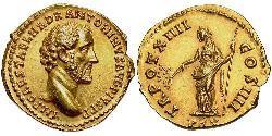 1 Aureus Römische Kaiserzeit (27BC-395) Gold Antoninus Pius  (86-161)