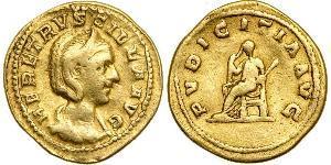 1 Aureus Römische Kaiserzeit (27BC-395) Gold Herennia Etruscilla (249-251)