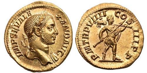 1 Aureus Römische Kaiserzeit (27BC-395) Gold Severus Alexander (208-235)