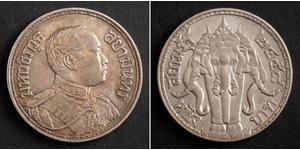 1 Baht Thailandia Argento Vajiravudh (1880 – 1925)