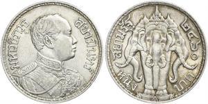 1 Baht Tailandia Plata Vajiravudh (1880 – 1925)