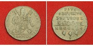 1 Baiocco Estados Pontificios (752-1870) Cobre Pío VII (1742 -1823)
