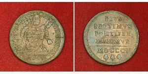 1 Baiocco États pontificaux (752-1870) Cuivre Pie VII (1742 -1823)