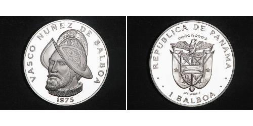 1 Balboa 巴拿马 銀 瓦斯科·努涅斯·德·巴尔沃亚