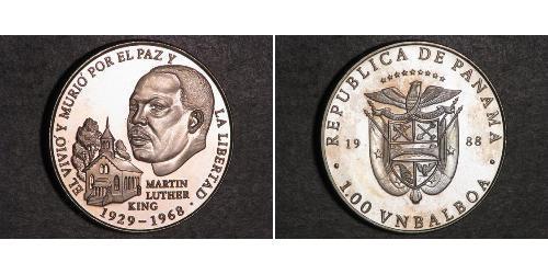 1 Balboa Panama Silber
