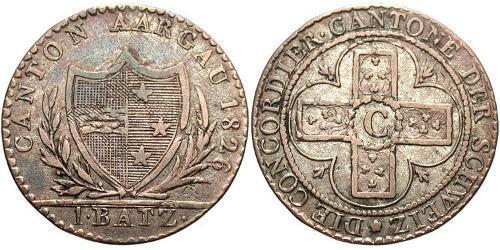 1 Batz Svizzera Biglione Argento