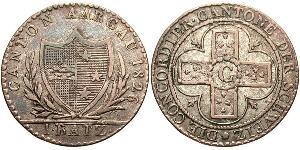1 Batz Schweiz Billon Silber