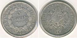 1 Bolivar Bolivien (1825 - ) Silber