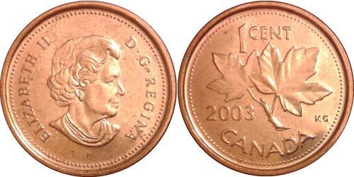 1 Cent 加拿大 銅 伊丽莎白二世 (1926-)