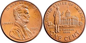 1 Cent 美利堅合眾國 (1776 - ) 銅/Zinc 亚伯拉罕·林肯