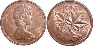 1 Cent 加拿大 青铜 伊丽莎白二世 (1926-)