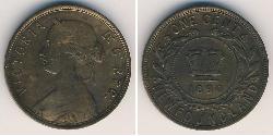1 Cent 紐芬蘭與拉布拉多 青铜 维多利亚 (英国君主)