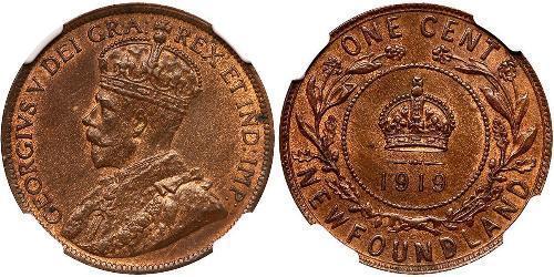 1 Cent 紐芬蘭與拉布拉多 青铜 乔治五世  (1865-1936)