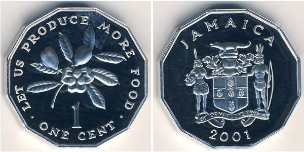 1 Cent Jamaica (1962 - ) Aluminio