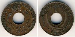1 Cent África Oriental Bronce
