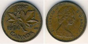 1 Cent Canadá Bronce Isabel II (1926-)