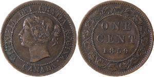 1 Cent Canadá Bronce Victoria (1819 - 1901)
