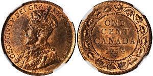 1 Cent Canadá Bronce Jorge V (1865-1936)