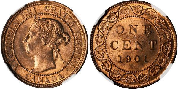 1 Cent Canadá Bronce Victoria (1819 - 1901)