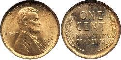 1 Cent Estados Unidos de América (1776 - ) Bronce Abraham Lincoln (1809-1865)