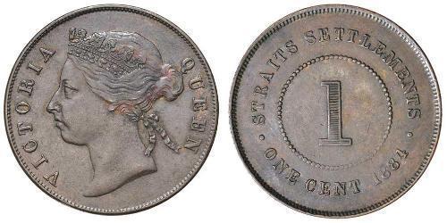 1 Cent Établissements des détroits (1826 - 1946) Bronze