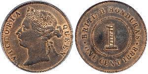 1 Cent British Honduras (1862-1981) Bronze Victoria (1819 - 1901)