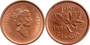 1 Cent Canada Bronze Elizabeth II (1926-)