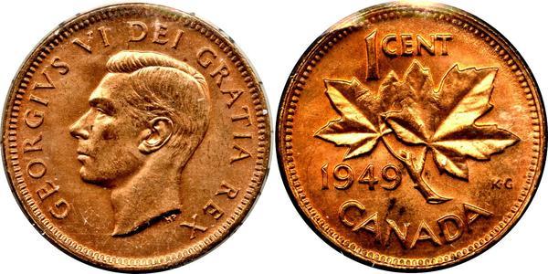 1 Cent Canada Bronze George VI (1895-1952)