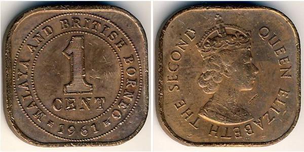 1 Cent Federation of Malaya (1948 - 1963) Bronze Elizabeth II (1926-)