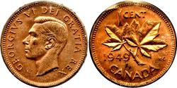 1 Cent Kanada Bronze Georg VI (1895-1952)