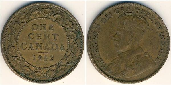 1 Cent Kanada Bronze George V (1865-1936)