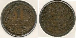 1 Cent Kingdom of the Netherlands (1815 - ) Bronze Wilhelmina of the Netherlands (1880 - 1962)