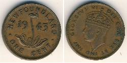1 Cent Newfoundland and Labrador Bronze George VI (1895-1952)