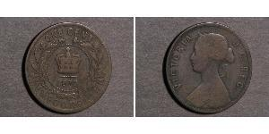 1 Cent Newfoundland and Labrador Bronze Victoria (1819 - 1901)