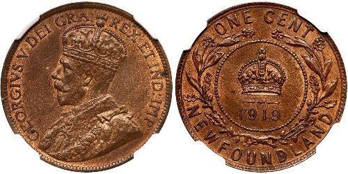 1 Cent Newfoundland and Labrador Bronze George V of the United Kingdom (1865-1936)