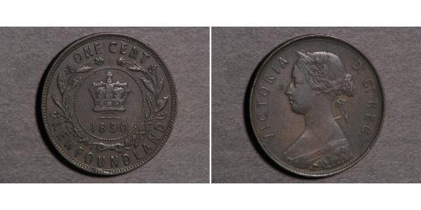 1 Cent Newfoundland and Labrador Bronze Victoria (1819 - 1901)